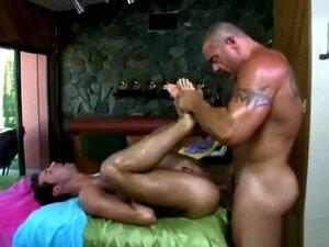 Gay masseur assfucks straight client,
