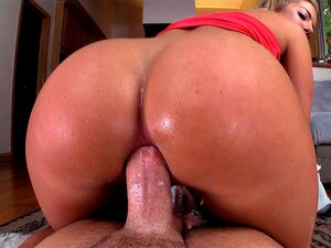 Candice Dare anal probbed reverse cowgirl style