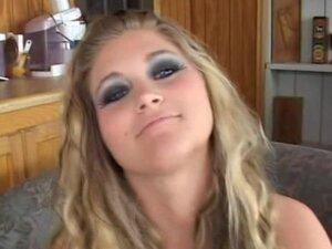 Busty slut gives a blowjob and fucks on top