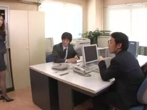 Aiko Hirose - Office Lady banged by Colegues,