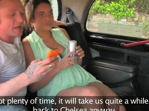 FakeTaxi Fun time couple in backseat taxi