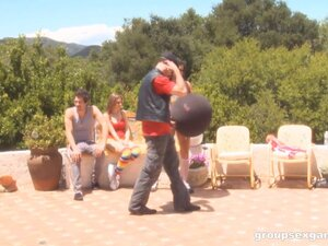 Nella Jay and Cece Stone participate in an outdoor