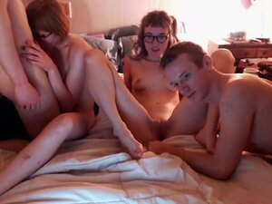 Young Couples Have an Amazing Foursome, Two young