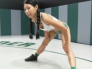 Asian Brunette Gets Fucked in a Fight