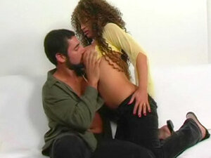 Big breasted curly hair girl fucked hard