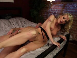Peeping Tom is made to have kinky foot sex with