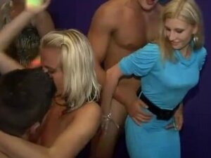 Male stripper cums on the tits of a girl