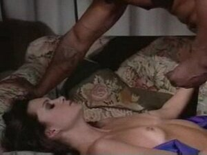 Brunette white woman loves chocolate - Interracial