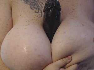 Huge BBC Oil Titfuck
