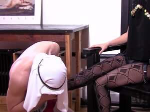 Asian American Mistress educates Arab slave full