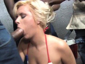 Kelly Surfer Is Getting Gangbanged By 4 Huge Black