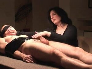 Flawless older wife wanks bound up spouse, Fetish