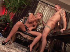 Ardent hardcore cock-riding action with blonde
