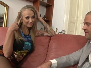 Russian glam babe pussy licked then facialed