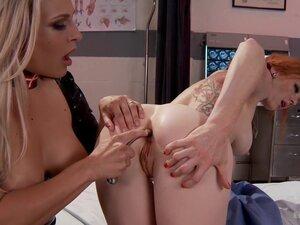 Evil Nurse tastes the Gape of her patient after