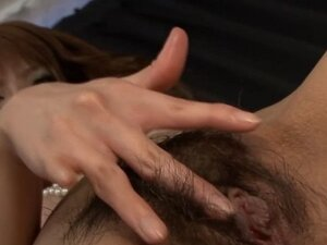 Busty asian thrills with blowbang