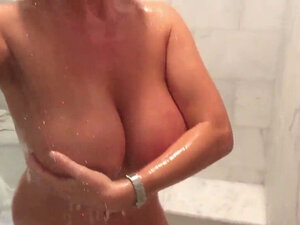 Large Rainy Boobies In The Shower
