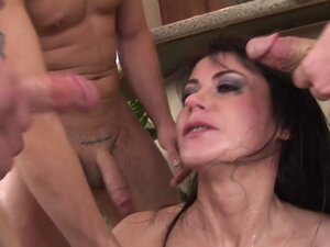 Eva Karera and her perfect round fake tits in a