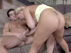 Mature slut Maya Divine is giving a blowjob in her