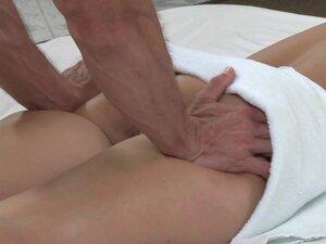 Massage Rooms Plump mature blonde milks masseuse's