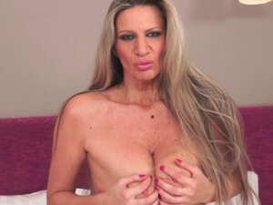 Mature granny gets facial