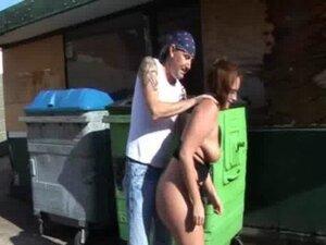 Sarah jane spanked naked outside