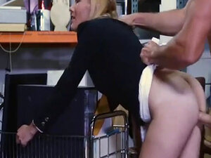 Hot blonde milf sells her stuff and pounded in