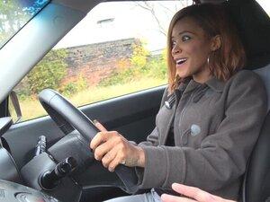 Fake Driving School brunette Jenifer Jane fucks