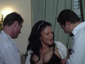 Sexy older hottie in an anal group sex with 2 sexy