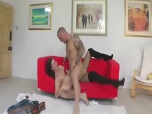 Mature in stockings gets roughly fucked