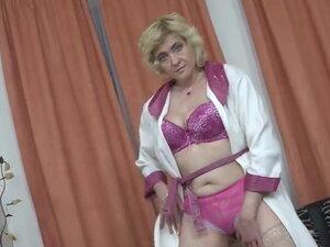 EuropeMaturE Busty Blonde Mature Solo Masturbation