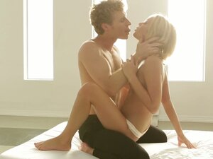 Hot passionate sex with the horny blonde Dakota