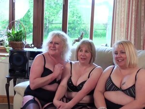 Epic action where three mature ladies sucked and