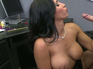 Beautiful and busty MILF Isis Love blows and fucks