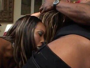 Two Ebony Dymes Get Fucked Together, Angel and