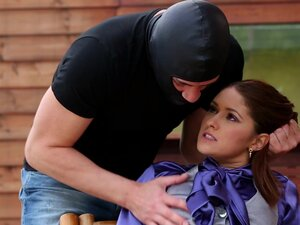Tall masked guy thrilled an appealing gal on the