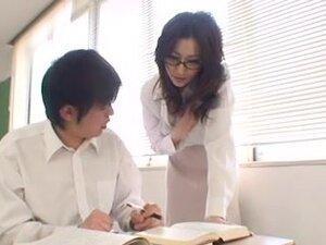 Oriental Teacher with Giant milk sacks Copulates
