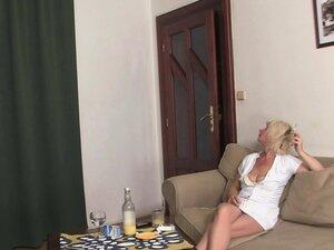Hot blonde mature enjoys double penetration