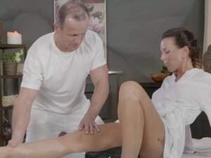 Massage Rooms Horny Milf wanks sucks and fucks