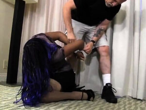 Fetish amateur sex in pink gloves and stockings