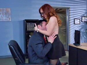 Fake tits slut Dani Jensen fucked in the office -