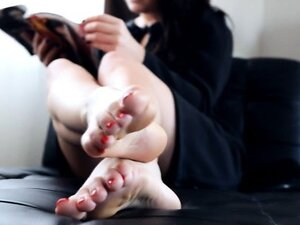 Mistress relaxes after a hard day at work as her