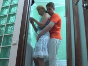 Russian NOT mom and NOT her son fuck in the
