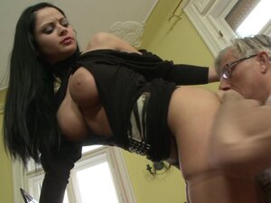 Brunette babe Anastasia Brill gets fucked by a