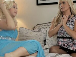 Samantha makes her mother cum over and over again