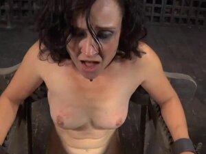 Prodigious brunette maiden is masturbating on cam