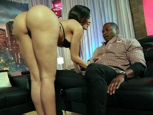 MILF Lela Star orally pleasures the big black cock