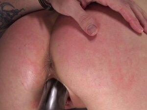 Brunette butt whipped and gagged hogtie