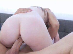 Karlie Brooks rides her pussy on top of Rich thick