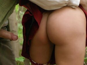 Anissa Kate tiffucks a cock in the forest and gets